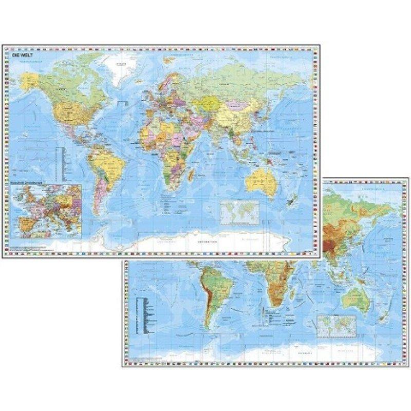 Weltkarte Politisch Als Schreibunterlage Landkartenschropp De