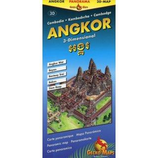 Angkor Wat Karte.Angkor Panoramakarte Landkartenschropp De Online Shop
