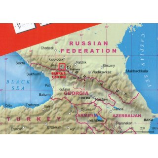 Elbrus Trekking Map 50 000